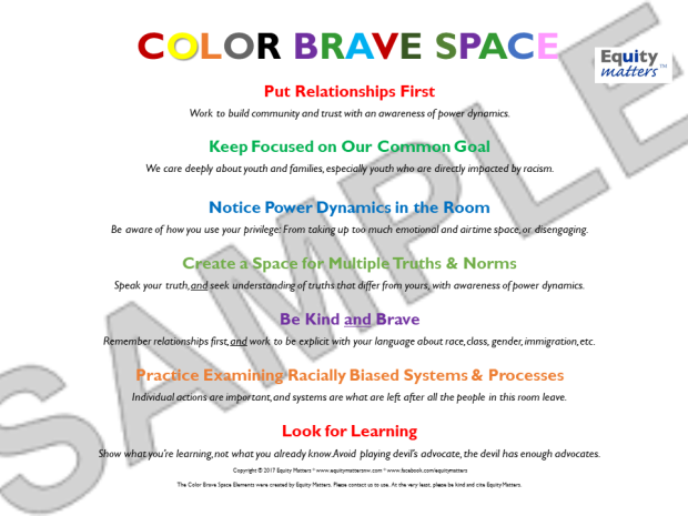 Color Brave Space image watermark