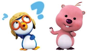 blue-puzzled-pororo-and-pink-happy-loopy-waving