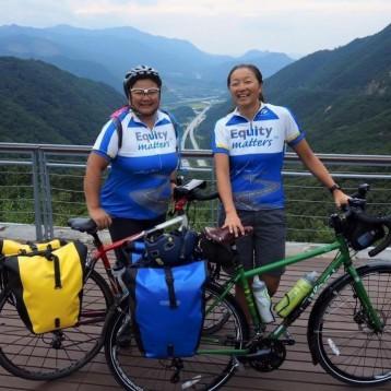 Marki and Heidi bikes