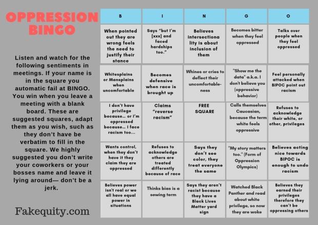 oppression bingo
